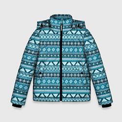 Куртка зимняя для мальчика Винтажный орнамент цвета 3D-черный — фото 1