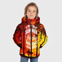 Детская зимняя куртка для мальчика с принтом Summer Surf 2, цвет: 3D-черный, артикул: 10096433006063 — фото 2