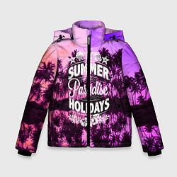 Куртка зимняя для мальчика Hawaii dream 2 цвета 3D-черный — фото 1