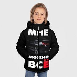 Куртка зимняя для мальчика BMW Мне можно всё цвета 3D-черный — фото 2