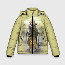 Детская зимняя куртка для мальчика с принтом Имперская русь, цвет: 3D-черный, артикул: 10096755806063 — фото 1