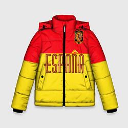 Куртка зимняя для мальчика Сборная Испании: Евро 2016 цвета 3D-черный — фото 1