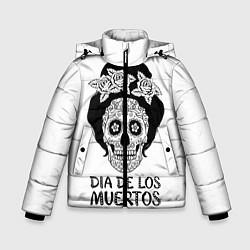 Детская зимняя куртка для мальчика с принтом День мертвецов, цвет: 3D-черный, артикул: 10098944306063 — фото 1