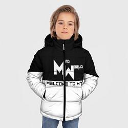Детская зимняя куртка для мальчика с принтом Безумный мир, цвет: 3D-черный, артикул: 10099125206063 — фото 2