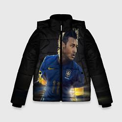 Куртка зимняя для мальчика Neymar: Brasil Team цвета 3D-черный — фото 1