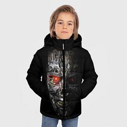 Куртка зимняя для мальчика Terminator Skull цвета 3D-черный — фото 2