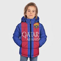 Куртка зимняя для мальчика Barcelona: Qatar Airways цвета 3D-черный — фото 2