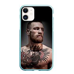 Чехол iPhone 11 матовый Conor McGregor цвета 3D-мятный — фото 1