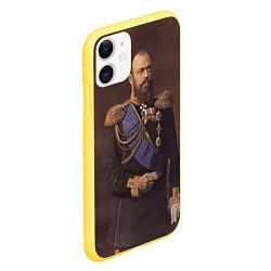 Чехол iPhone 11 матовый Александр III Миротворец цвета 3D-желтый — фото 2
