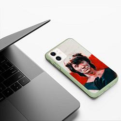 Чехол iPhone 11 матовый Молодой Цой цвета 3D-салатовый — фото 2
