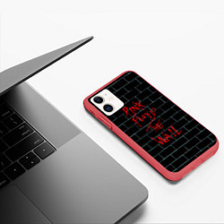 Чехол iPhone 11 матовый Pink Floyd: The Wall цвета 3D-красный — фото 2