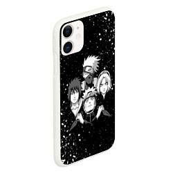 Чехол iPhone 11 матовый НАРУТО цвета 3D-белый — фото 2