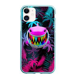 Чехол iPhone 11 матовый 6IX9INE 69 цвета 3D-мятный — фото 1