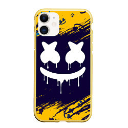 Чехол iPhone 11 матовый MARSHMELLO МАРШМЕЛЛОУ цвета 3D-желтый — фото 1