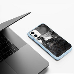 Чехол iPhone 11 матовый Black Veil Brides: Faithless цвета 3D-голубой — фото 2