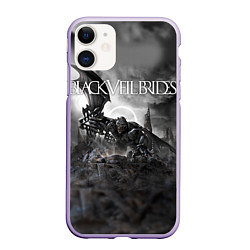 Чехол iPhone 11 матовый Black Veil Brides: Faithless цвета 3D-светло-сиреневый — фото 1