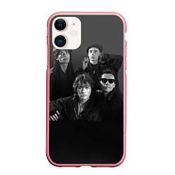 Чехол iPhone 11 матовый Группа Кино