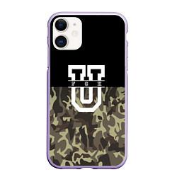 Чехол iPhone 11 матовый FCK U: Camo