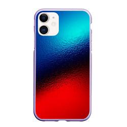 Чехол iPhone 11 матовый Синий и красный