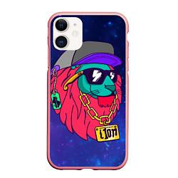 Чехол iPhone 11 матовый Лев SWAG
