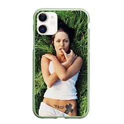 Чехол iPhone 11 матовый Анджелина Джоли
