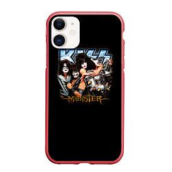 Чехол iPhone 11 матовый Kiss Monster