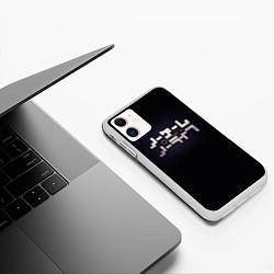 Чехол iPhone 11 матовый No Game No Life лого цвета 3D-белый — фото 2