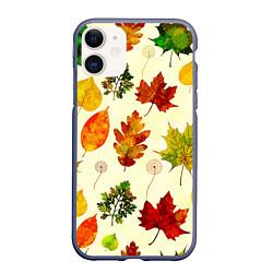 Чехол iPhone 11 матовый Осень цвета 3D-серый — фото 1
