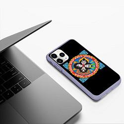 Чехол iPhone 11 Pro матовый KISS: Over цвета 3D-светло-сиреневый — фото 2