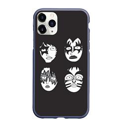 Чехол iPhone 11 Pro матовый KISS Mask цвета 3D-серый — фото 1