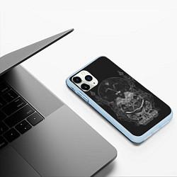 Чехол iPhone 11 Pro матовый Wolves in the Throne Room цвета 3D-голубой — фото 2