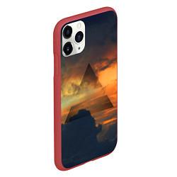 Чехол iPhone 11 Pro матовый 30 seconds to mars цвета 3D-красный — фото 2
