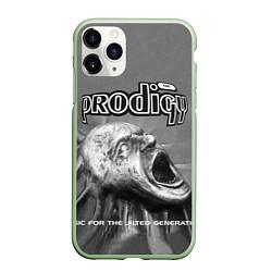 Чехол iPhone 11 Pro матовый The Prodigy: Madness цвета 3D-салатовый — фото 1
