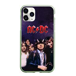 Чехол iPhone 11 Pro матовый AC/DC цвета 3D-салатовый — фото 1