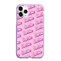 Чехол iPhone 11 Pro матовый Barbie Pattern цвета 3D-светло-сиреневый — фото 1