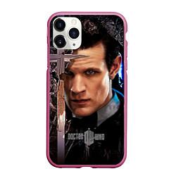 Чехол iPhone 11 Pro матовый Доктор кто цвета 3D-малиновый — фото 1
