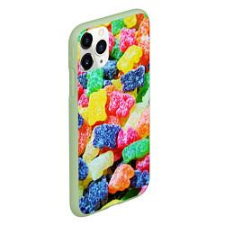 Чехол iPhone 11 Pro матовый Мармеладные мишки цвета 3D-салатовый — фото 2