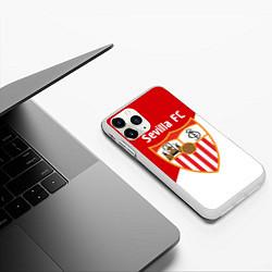 Чехол iPhone 11 Pro матовый Sevilla FC цвета 3D-белый — фото 2