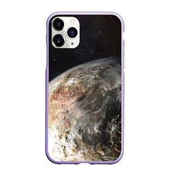 Чехол iPhone 11 Pro матовый Плутон цвета 3D-светло-сиреневый — фото 1