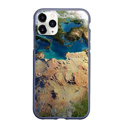 Чехол для iPhone 11 Pro матовый с принтом Земля, цвет: 3D-серый, артикул: 10065240205909 — фото 1