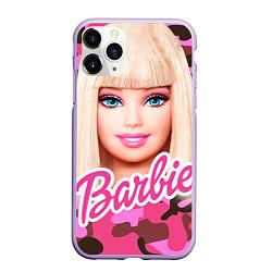 Чехол iPhone 11 Pro матовый Барби цвета 3D-светло-сиреневый — фото 1