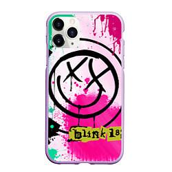 Чехол iPhone 11 Pro матовый Blink-182: Purple Smile цвета 3D-сиреневый — фото 1