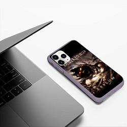 Чехол iPhone 11 Pro матовый Disturbed цвета 3D-серый — фото 2