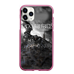 Чехол iPhone 11 Pro матовый Black Veil Brides: Faithless цвета 3D-малиновый — фото 1