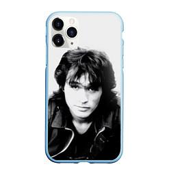 Чехол iPhone 11 Pro матовый Кино: Виктор Цой цвета 3D-голубой — фото 1