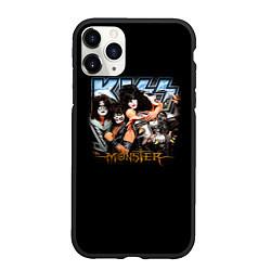 Чехол iPhone 11 Pro матовый Kiss Monster цвета 3D-черный — фото 1