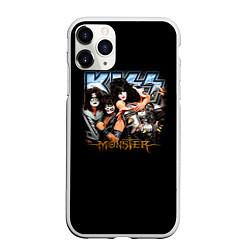 Чехол iPhone 11 Pro матовый Kiss Monster цвета 3D-белый — фото 1