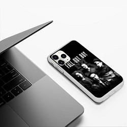 Чехол iPhone 11 Pro матовый Fall out boy band цвета 3D-белый — фото 2