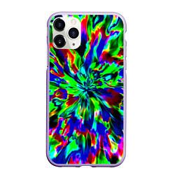 Чехол iPhone 11 Pro матовый Оксид красок цвета 3D-светло-сиреневый — фото 1