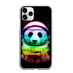 Чехол iPhone 11 Pro матовый Панда космонавт цвета 3D-белый — фото 1